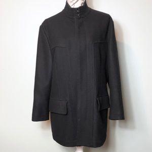 Dkny black wool blend coat size medium